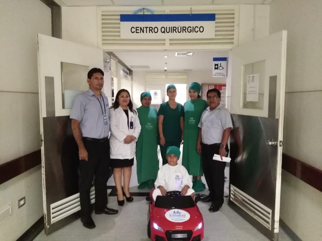 Essalud - Tarapoto ya cuenta con carritos de juguete para trasladar niños al quirófano