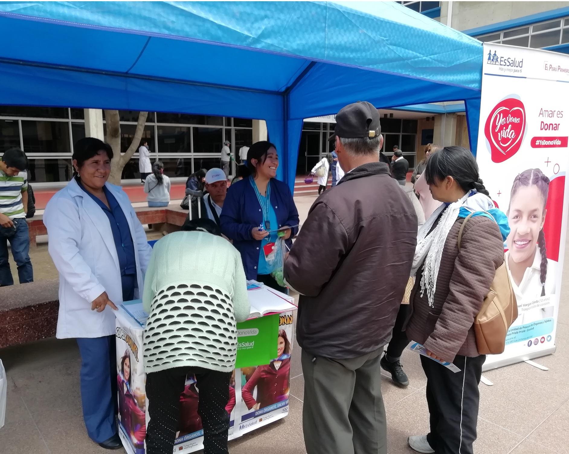 Essalud - Junín realiza campaña «Yo dono Vida»