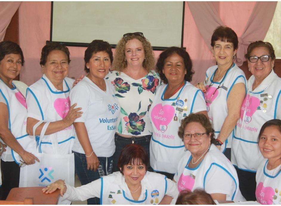 Essalud - Voluntariado de EsSalud Loreto recibe visita de representantes nacionales