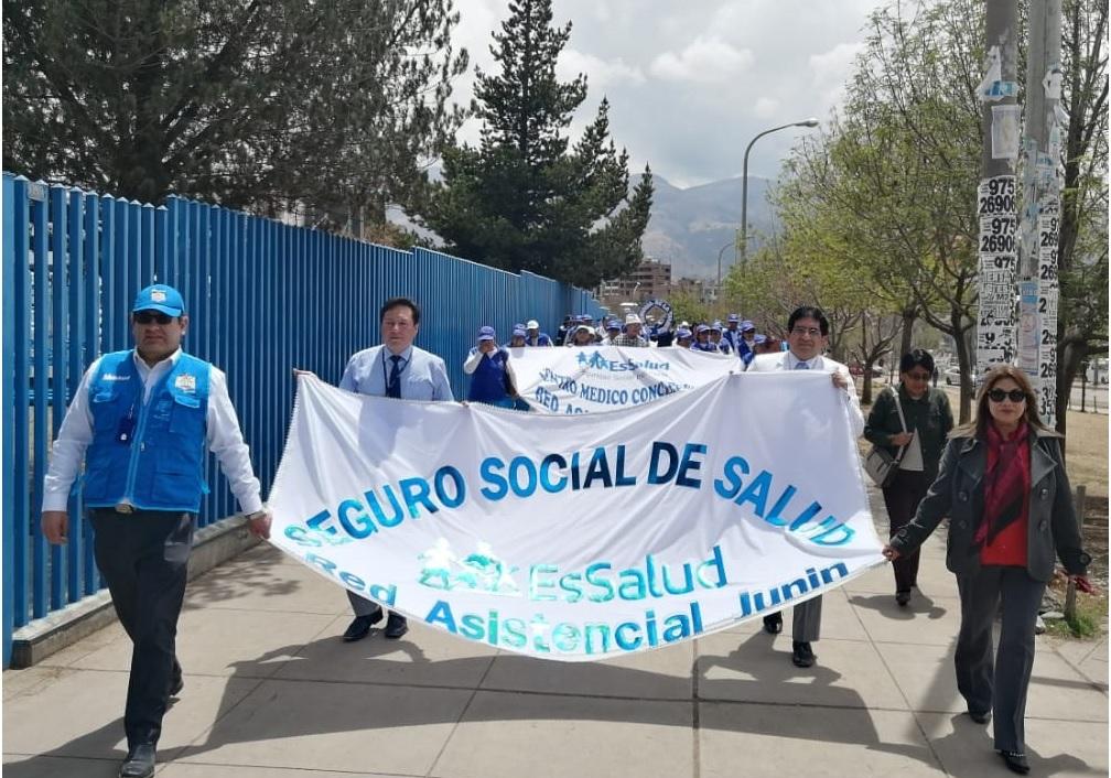 Essalud - EsSalud Junín realiza caminata por Día Mundial de la Diabetes