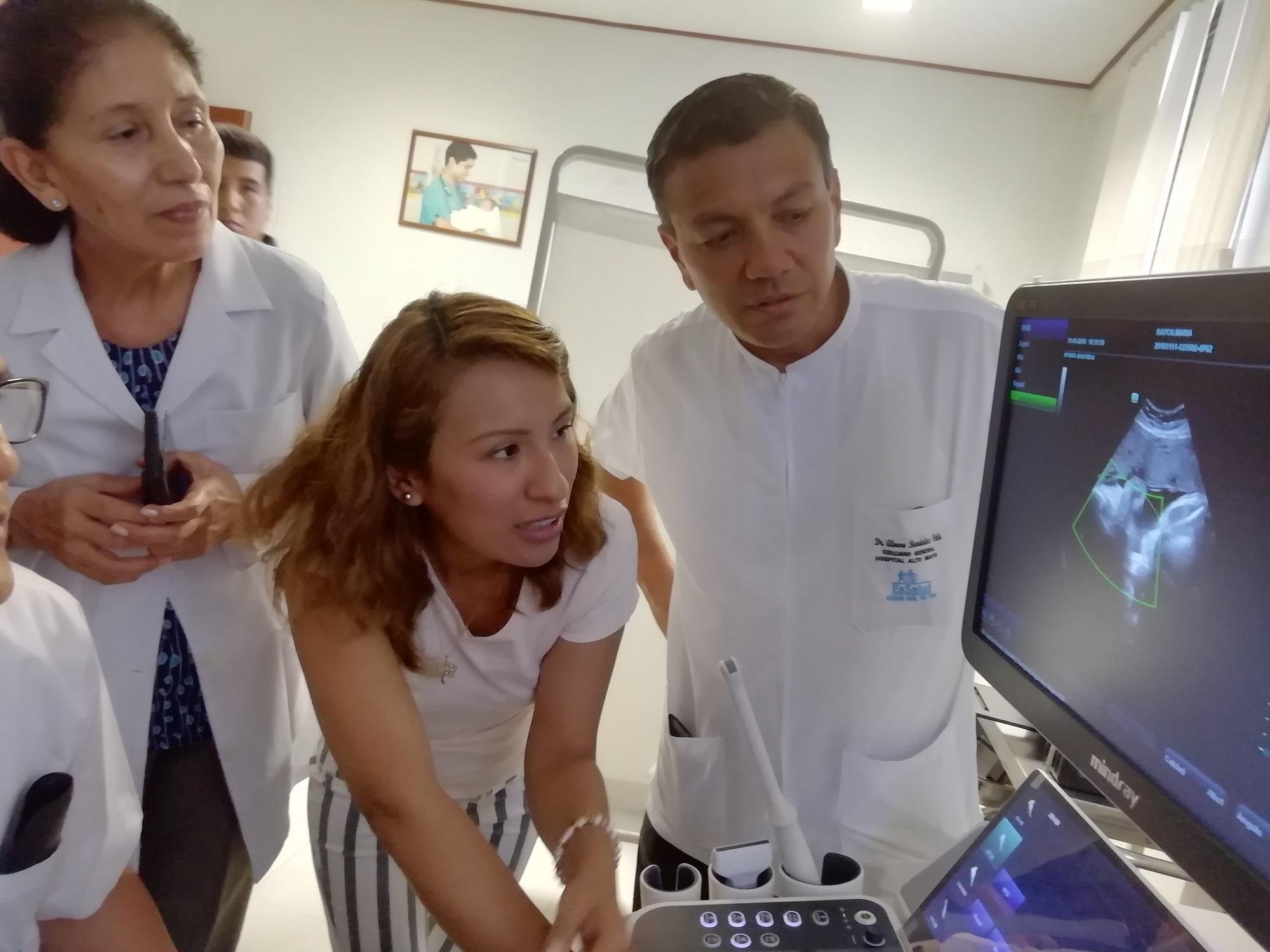 Essalud - EsSalud Moyobamba: Hospital I Alto Mayo cuenta con ecógrafo 4D