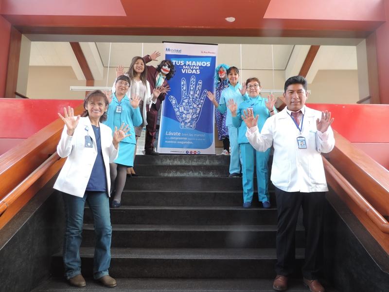 Essalud - En EsSalud Cusco, los servicios de Ginecología y Neonatología ganan concurso de lavado de manos
