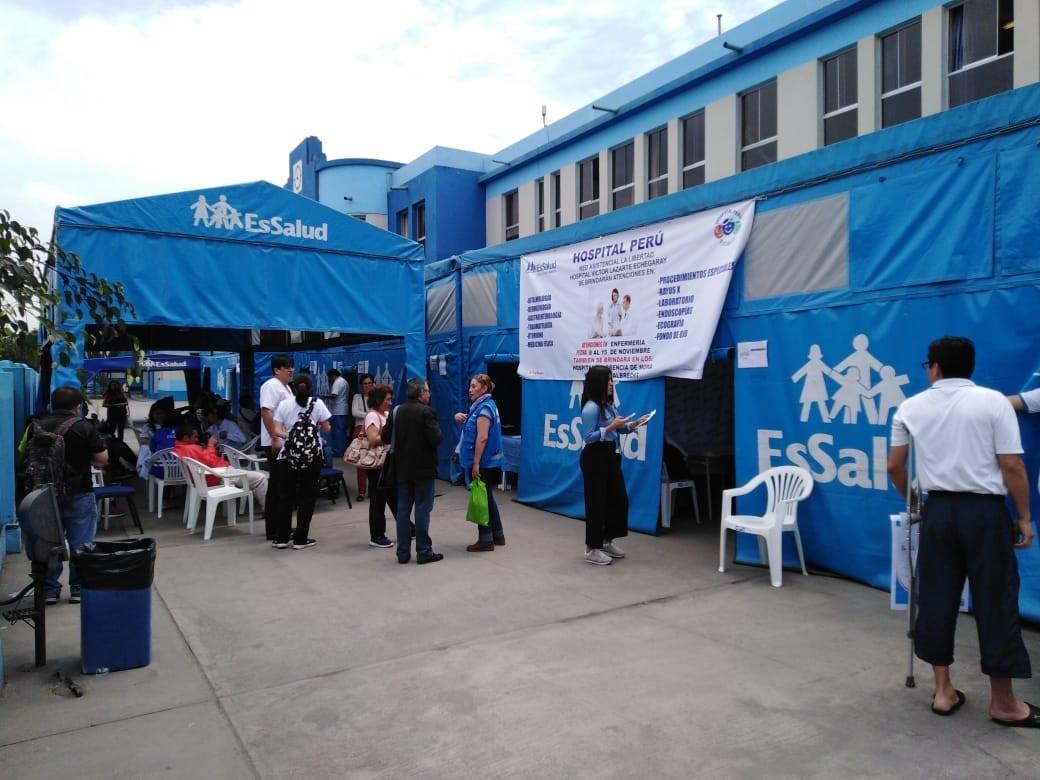 Essalud - EsSalud La Libertad: Hospital Perú atiende a población asegurada hasta el viernes 15