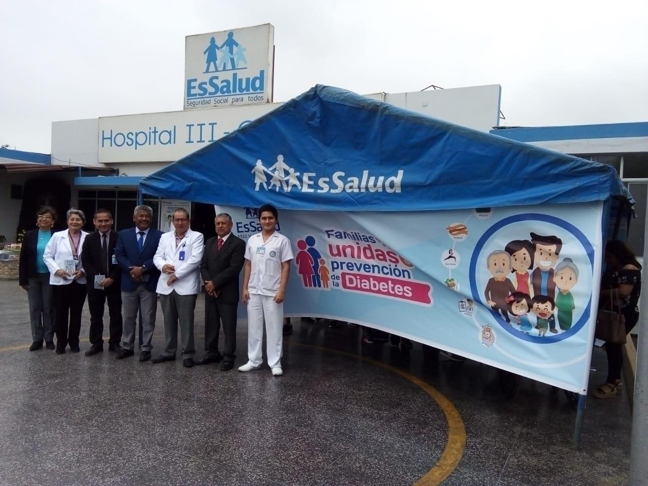 Essalud - EsSalud Áncash realiza campaña de prevención de diabetes