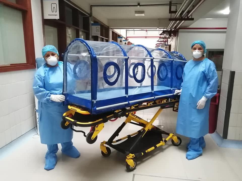 Essalud - EsSalud diseña cápsula de aislamiento para pacientes con COVID-19