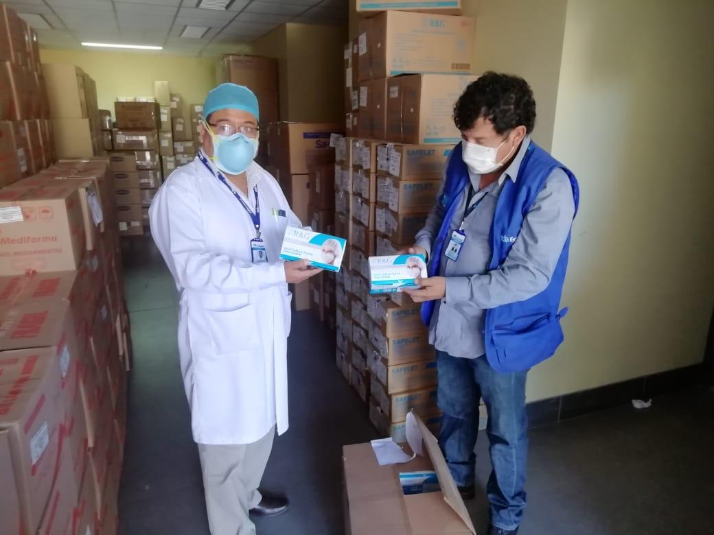 Essalud - EsSalud Apurímac reforzará atención Covid 19 con nuevo lote de equipos de protección y medicamentos