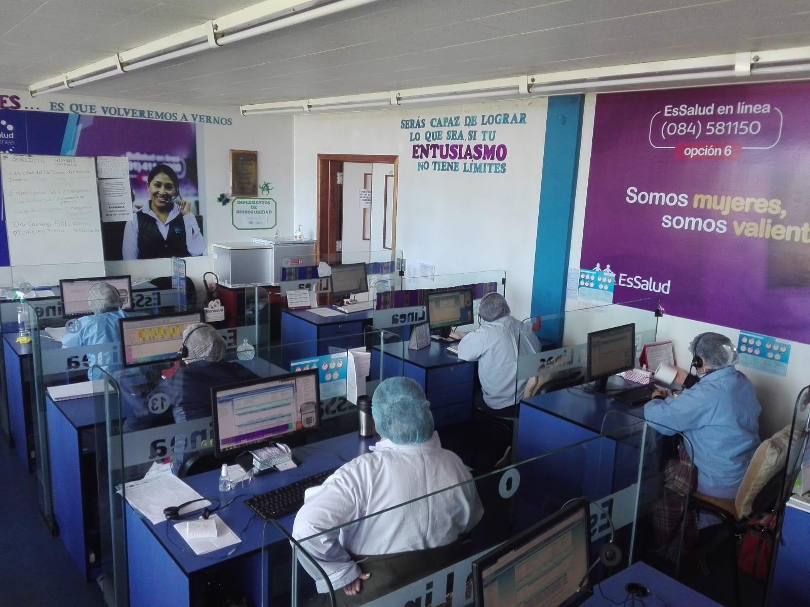 Essalud - EsSalud en Línea de Cusco atiende mensualmente a 11 mil asegurados