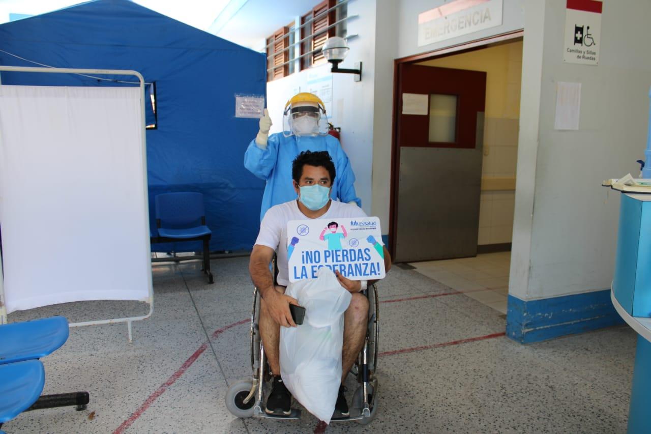 Essalud - En EsSalud Moyobamba, hasta el momento, se logró dar de alta a 6 pacientes que vencieron al Covid-19