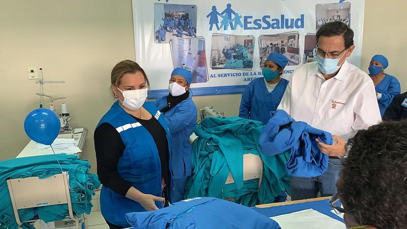 Presidente Martín Vizcarra y la presidenta Ejecutiva Fiorella Molinelli supervisaron avance de nueva Villa EsSalud Arequipa