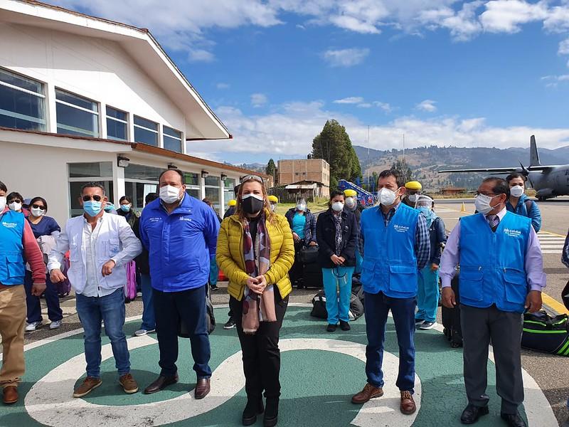 Essalud - Presidenta de EsSalud Fiorella Molinelli lidera operativos Anti Covid en Cajamarca y agiliza puesta en marcha de nueva Villa de EsSalud en la región
