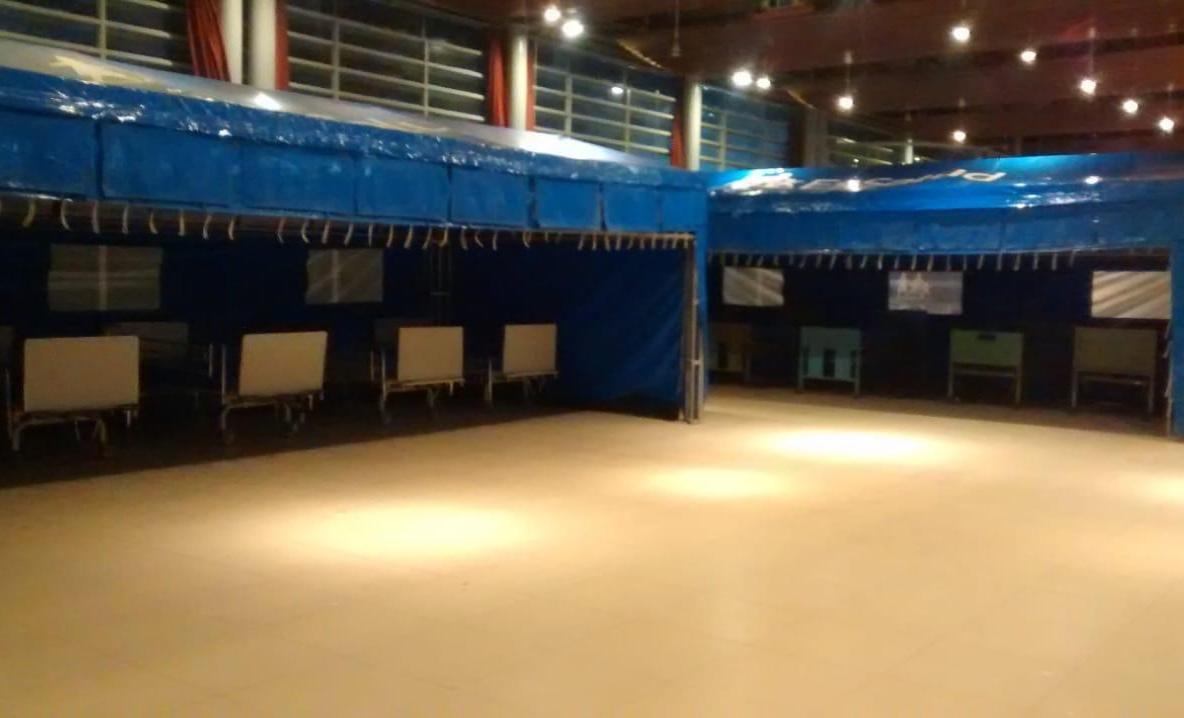 Essalud - EsSalud Arequipa instala más de 100 camas hospitalarias para pacientes Covid-19 en el Club del Abogado