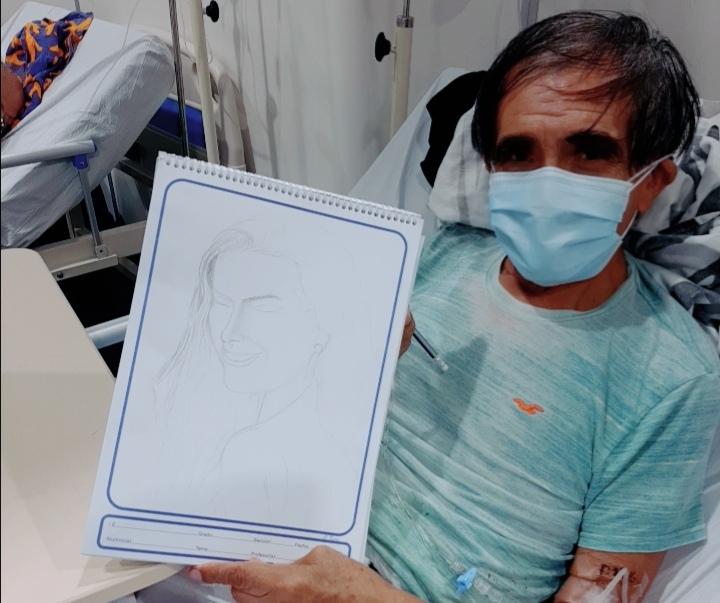 Essalud - EsSalud Piura: artista del dibujo de 75 años se recupera de manera favorable del Covid-19
