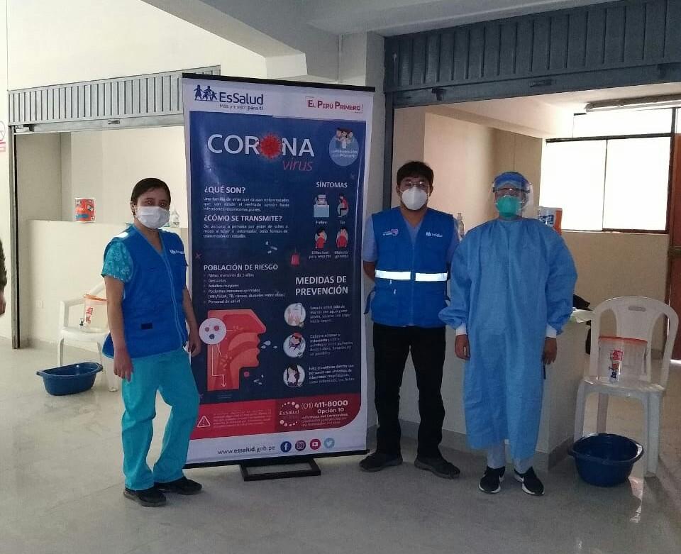 Essalud - En Centro Médico de Tayabamba de EsSalud La Libertad se realizó jornada de salud multisectorial