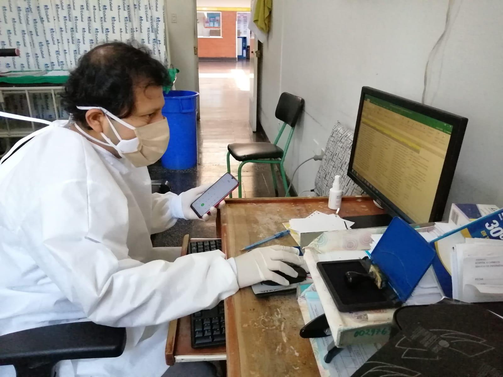 Médicos especialistas de EsSalud Áncash brindan teleconsultas a pacientes