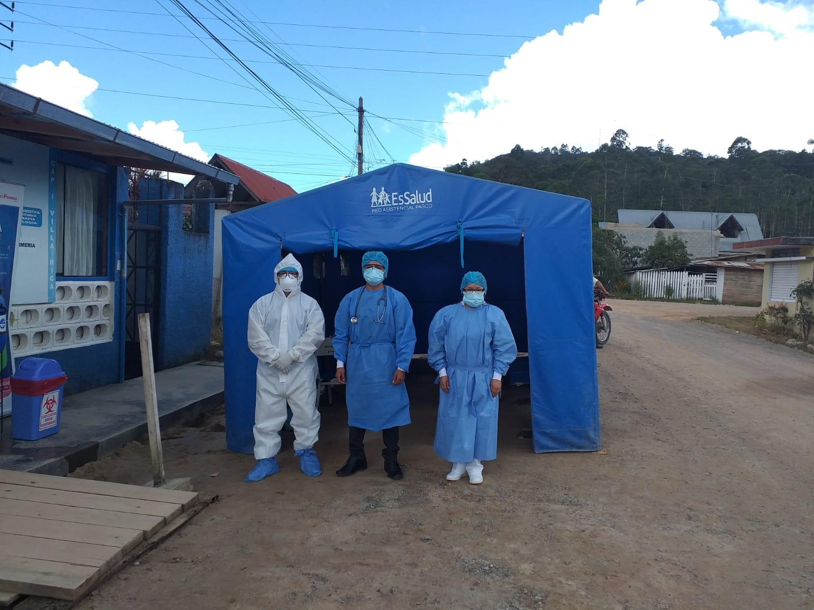 Con apoyo del Hospital Perú, EsSalud Pasco refuerza detección y tratamiento del Covid-19