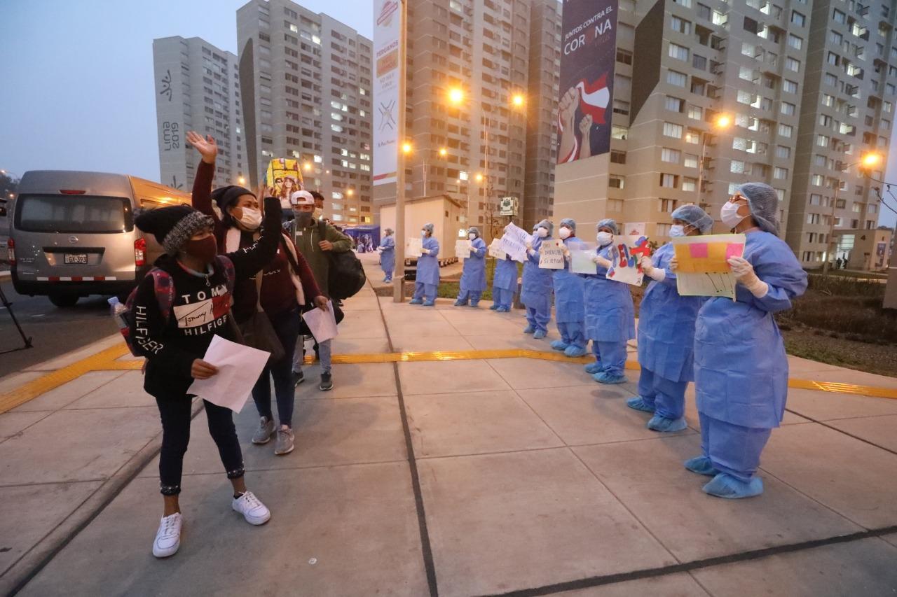 EsSalud alienta el aislamiento o internamiento de pacientes COVID-19 en Villa Panamericana aplicando nuevo protocolo