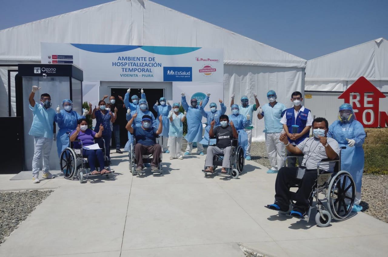 EsSalud Piura: cinco pacientes vencen al Covid-19 en Villa La Videnita