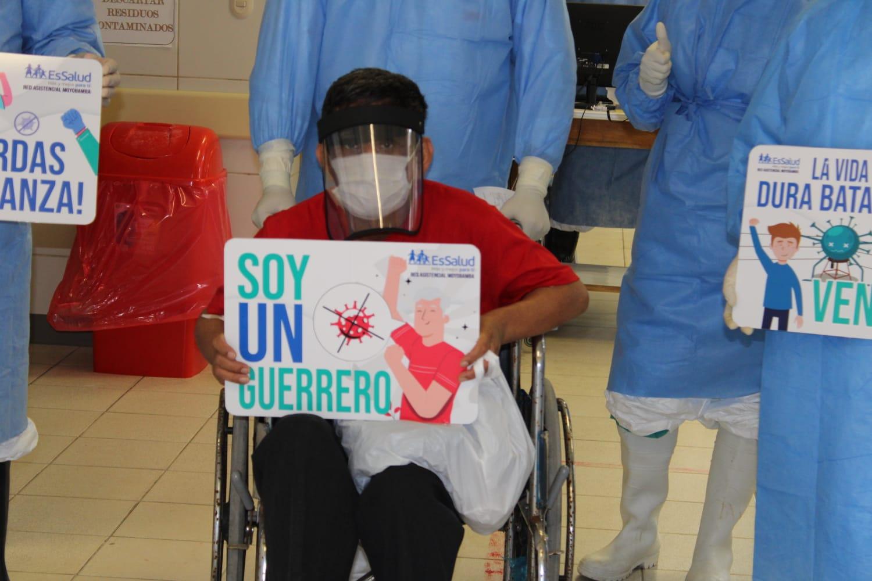 Essalud - En primera quincena de agosto, EsSalud Moyobamba, otorgó alta a 40 pacientes que vencieron al Covid-19