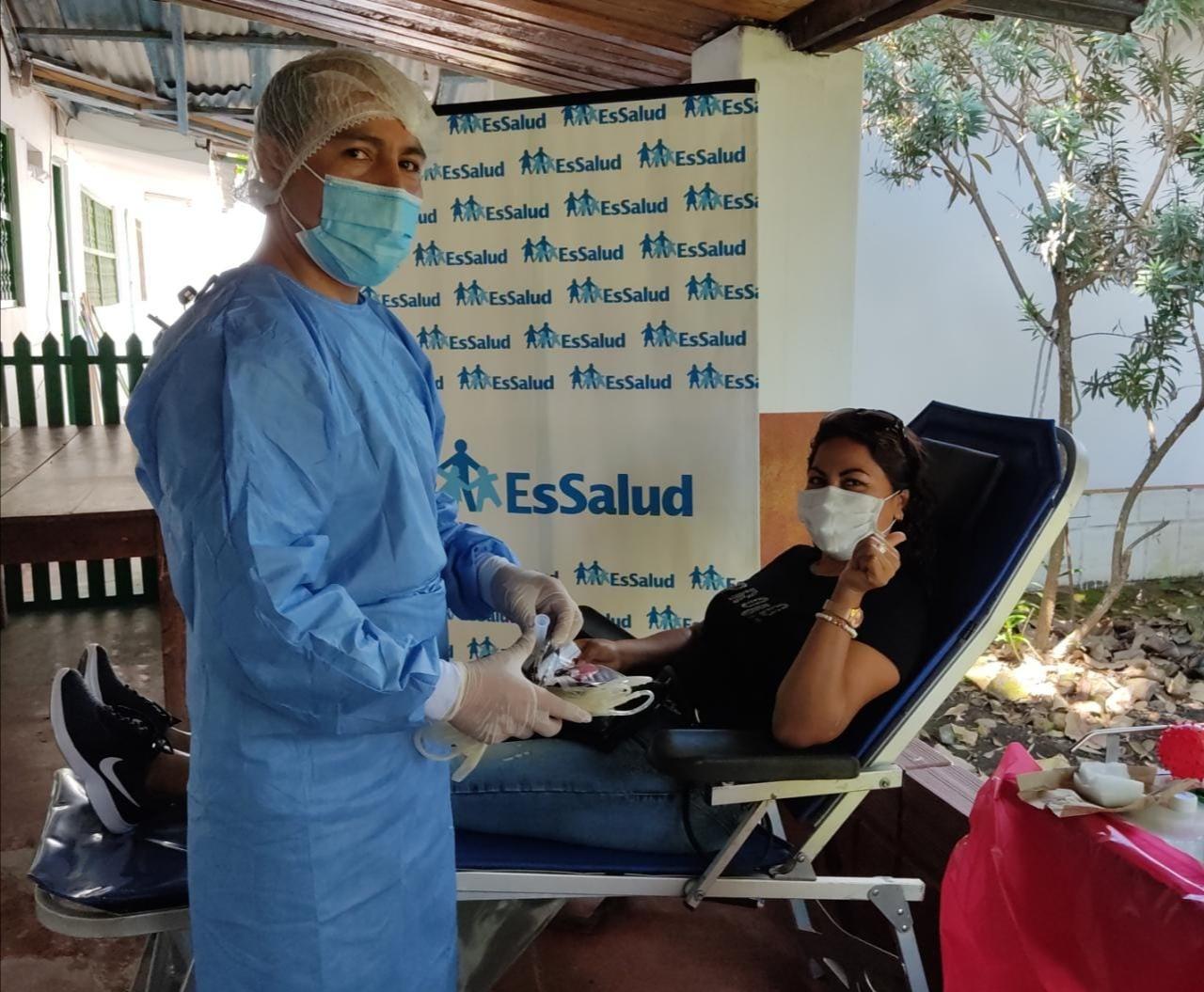 Essalud - EsSalud Moyobamba realiza jornada de donación voluntaria de sangre en tiempos de Covid-19