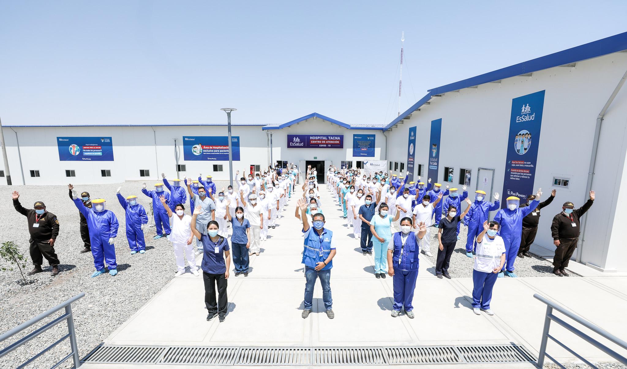 Essalud - Presidente Vizcarra y titular de EsSalud Fiorella Molinelli pusieron en marcha Centro de Atención Covid-19 en Tacna implementado por el seguro social en solo 14 días