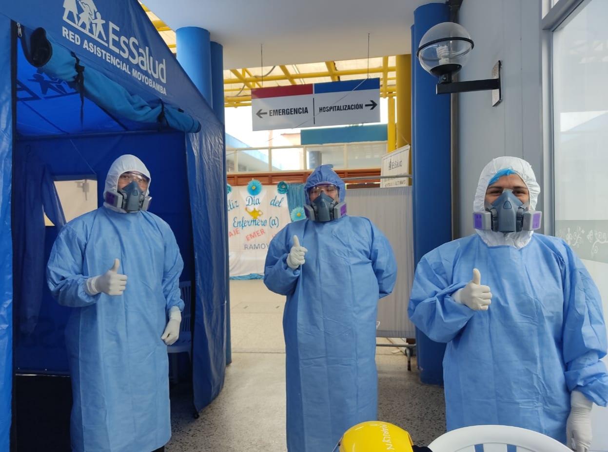 Essalud - EsSalud Moyobamba consolida bioseguridad para protección de sus trabajadores