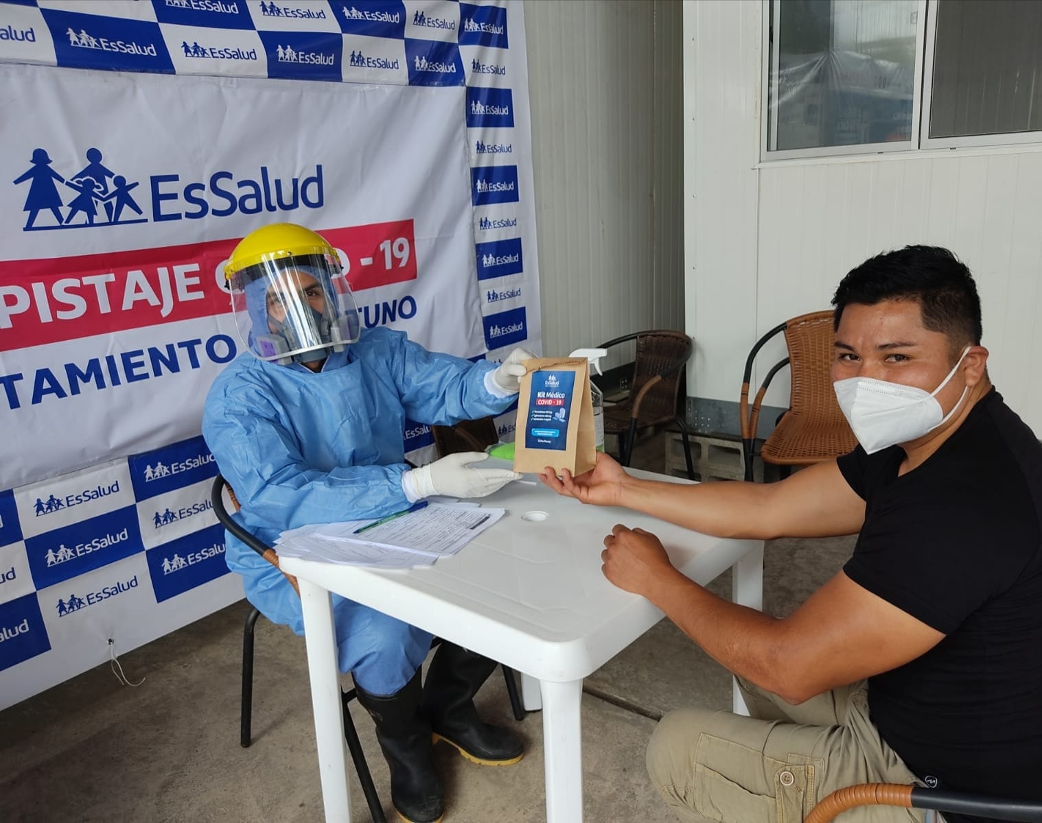 Essalud - EsSalud Moyobamba inició jornadas de despistaje de Covid -19