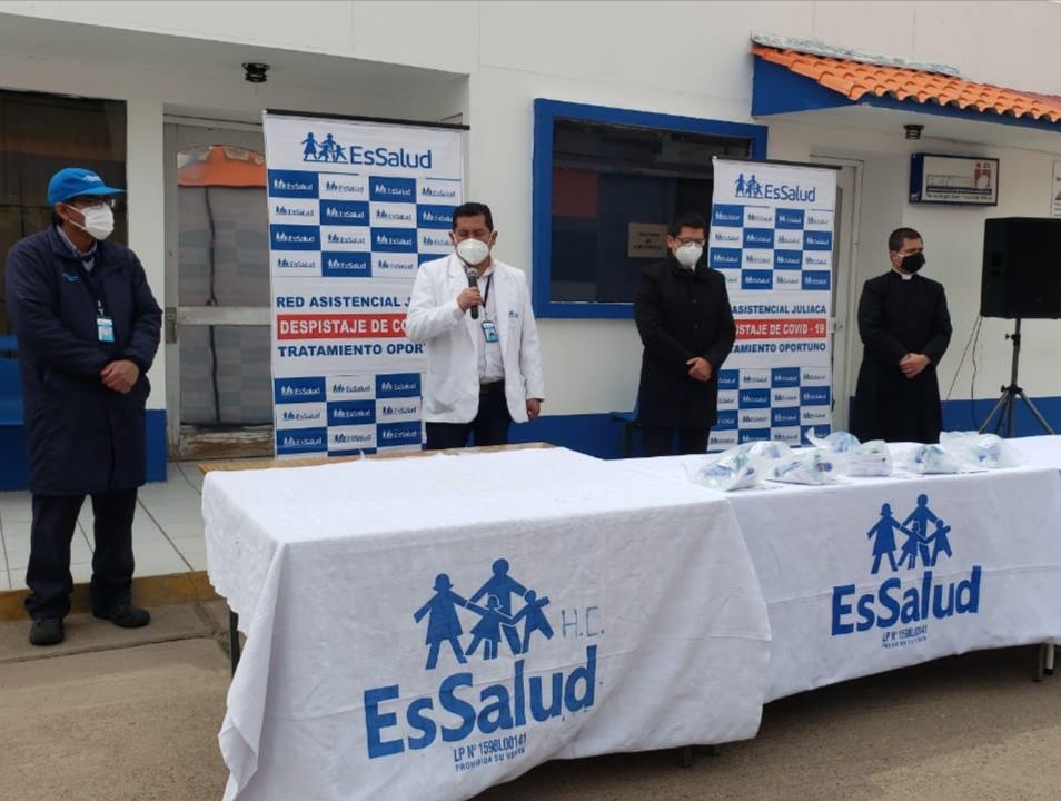 Essalud - EsSalud Juliaca consolida lucha contra el Covid-19 con novedosos ventiladores