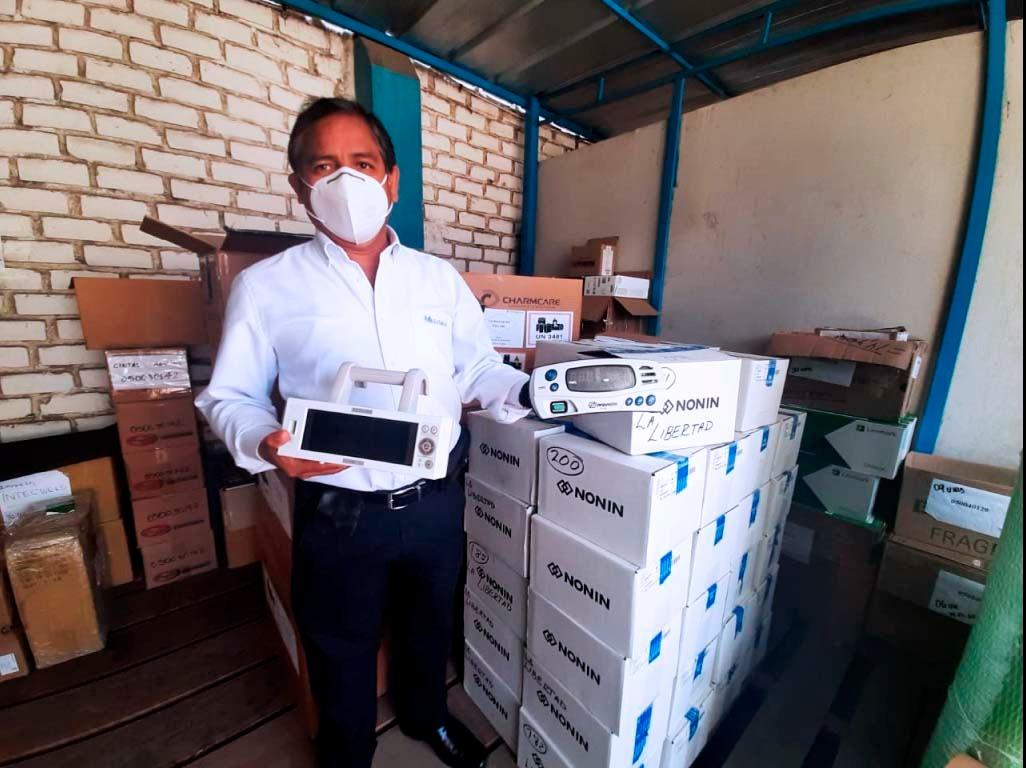 Essalud - EsSalud La Libertad distribuyó más de 200 pulsioxímetros entre los 36 establecimientos de su red