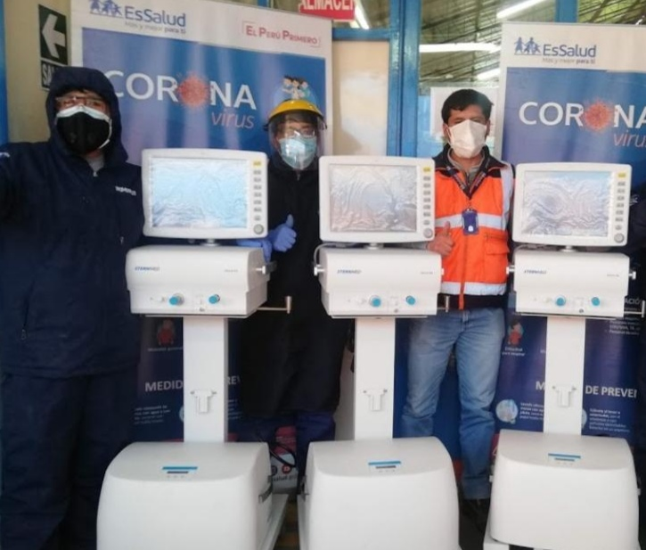 EsSalud Puno recibe tres ventiladores multiparametros