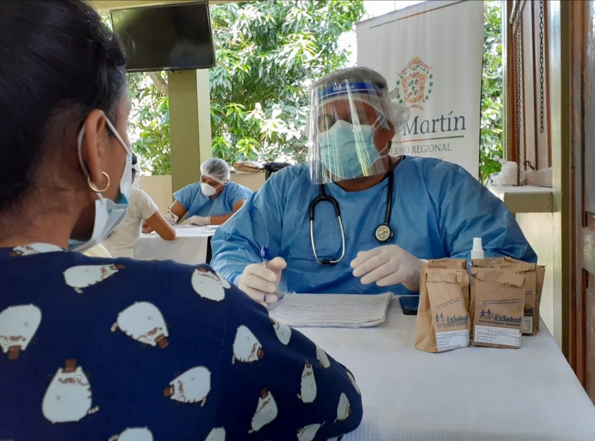 Essalud - EsSalud Tarapoto continúa con atenciones médicas descentralizadas de prevención por Covid-19