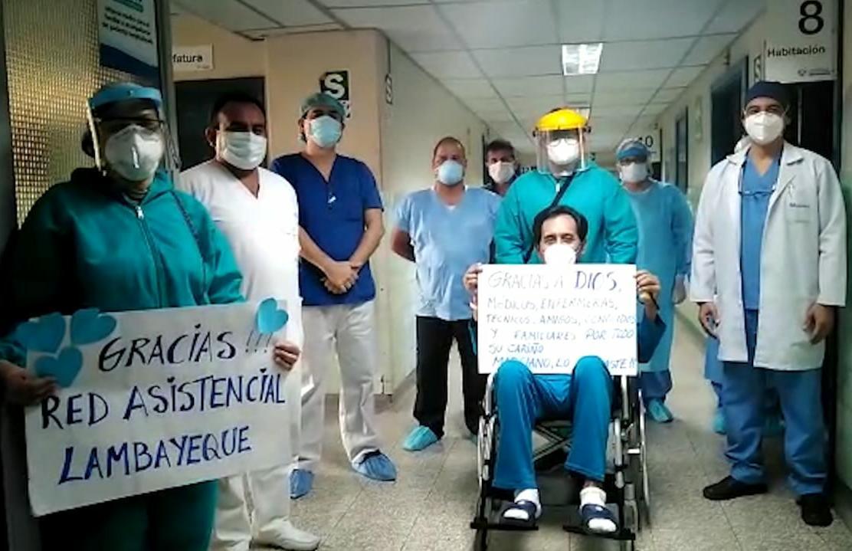 Trabajador de EsSalud Lambayeque venció el estadío grave del Covid-19 luego de tres meses de hospitalización