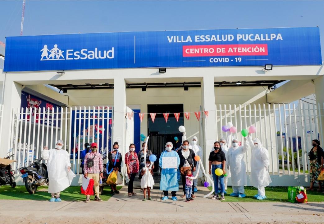Essalud - EsSalud Ucayali: se hicieron amigos durante hospitalización por Covid-19 y salieron de alta el mismo día