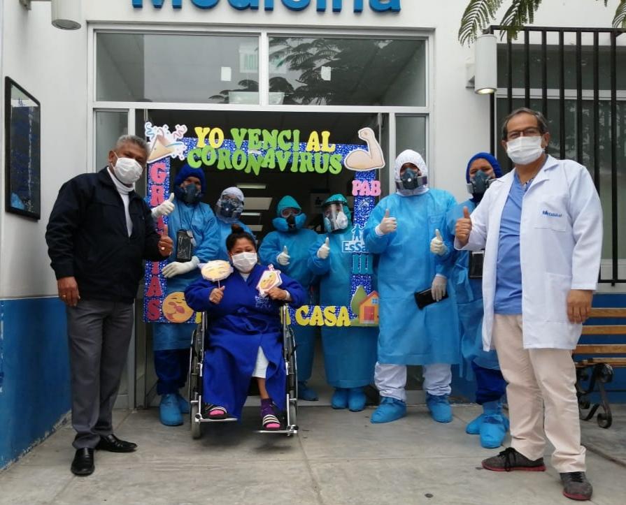 Essalud - Madre de familia es la paciente número 825 que vence al Covid-19 en EsSalud Áncash