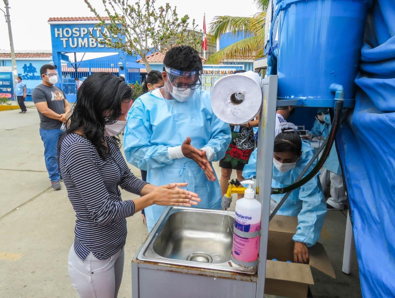 Essalud - EsSalud Tumbes realiza jornadas de lavado de manos