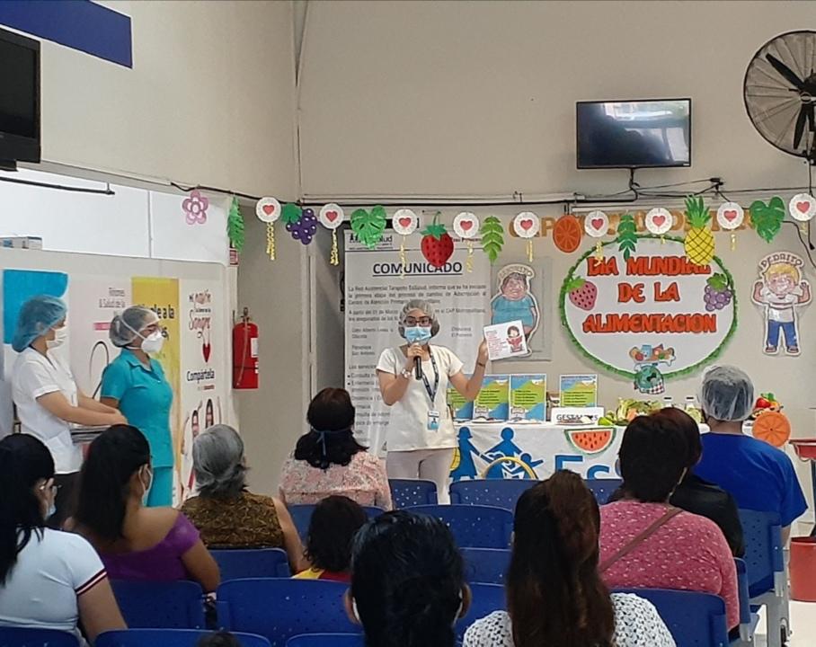 EsSalud Tarapoto conmemora el Día Mundial de la Alimentación
