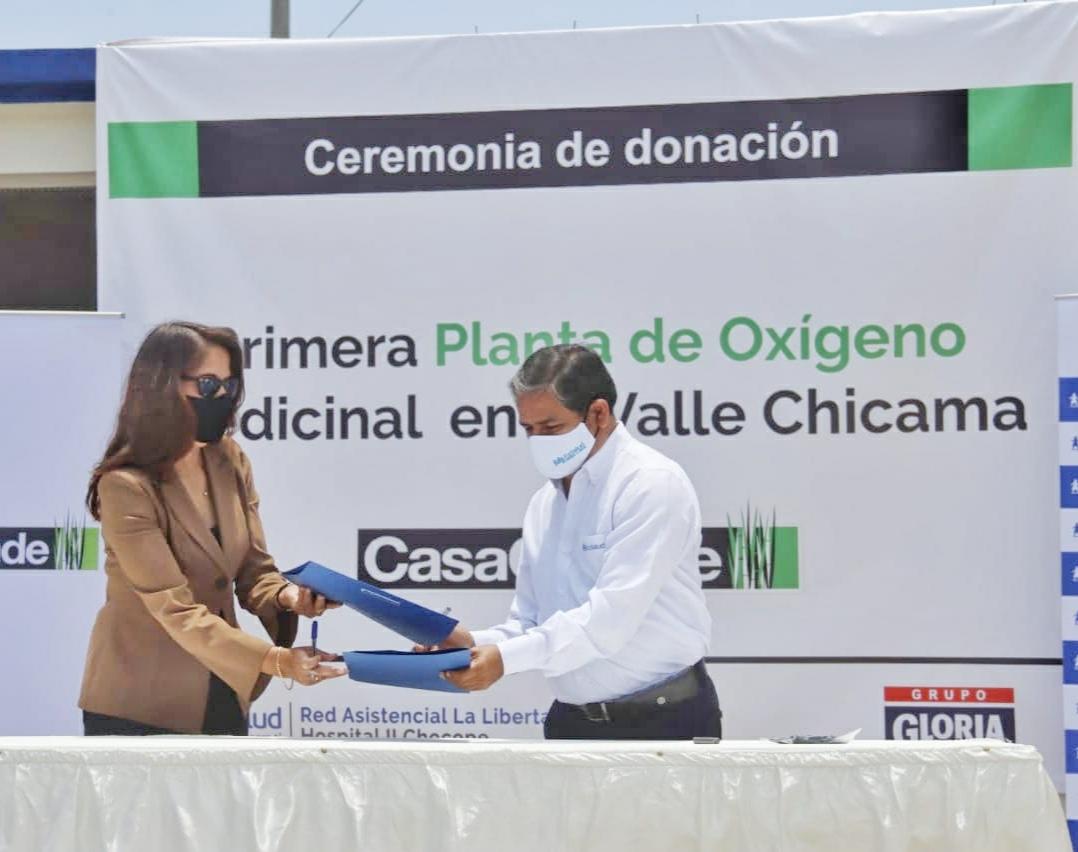EsSalud La Libertad recibió una planta generadora de oxigeno