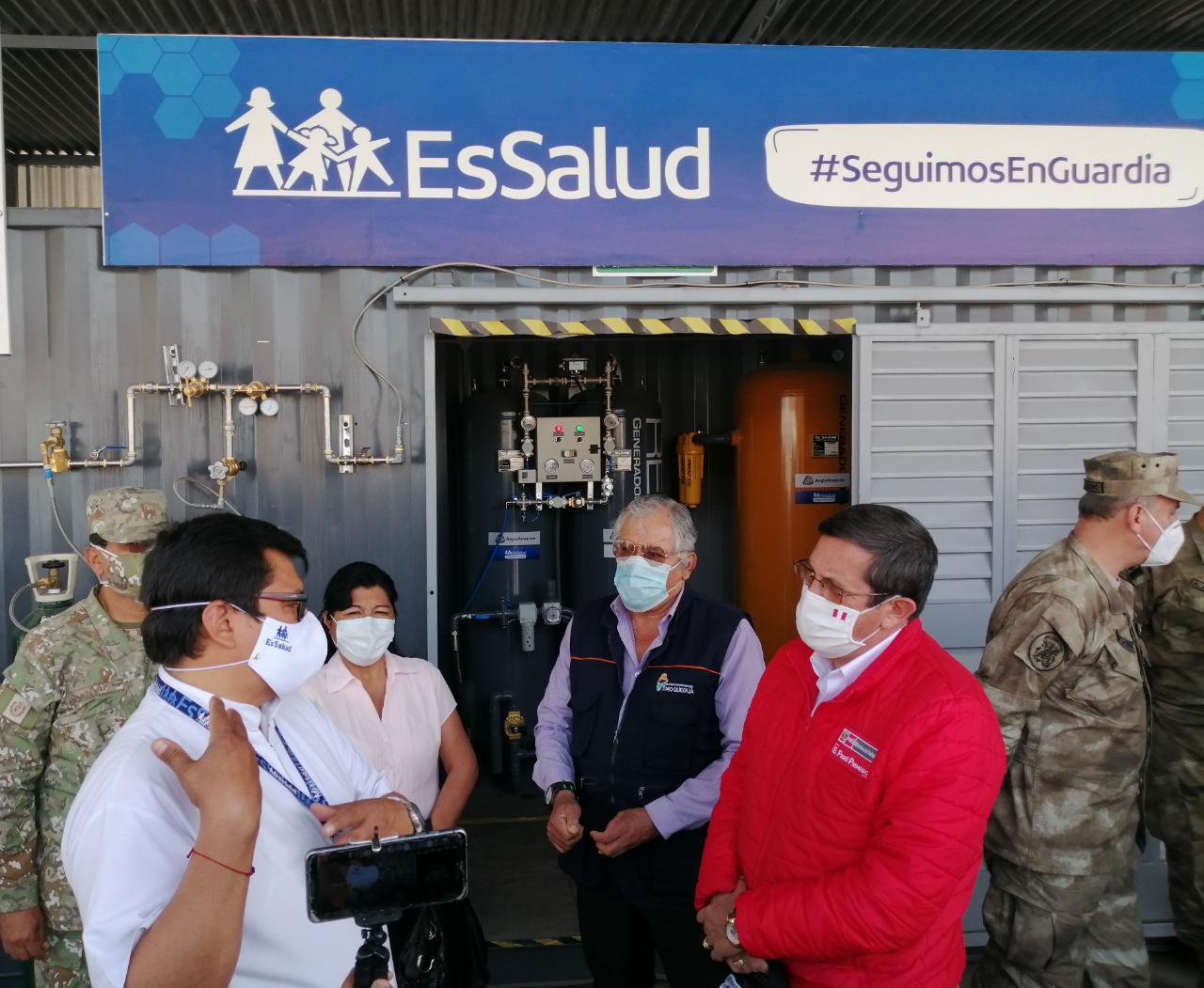Hospital de Contingencia de Moquegua, cedido a EsSalud, fortalece despistaje y recuperación de pacientes Covid-19
