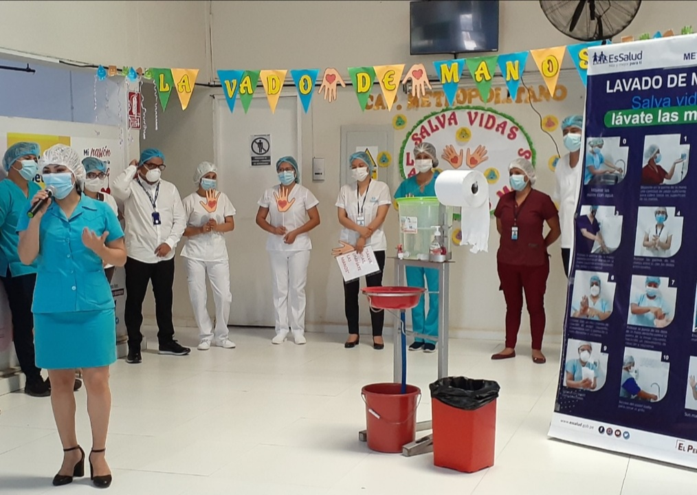 Essalud - EsSalud Tarapoto realizó actividades por Día mundial del lavado de manos