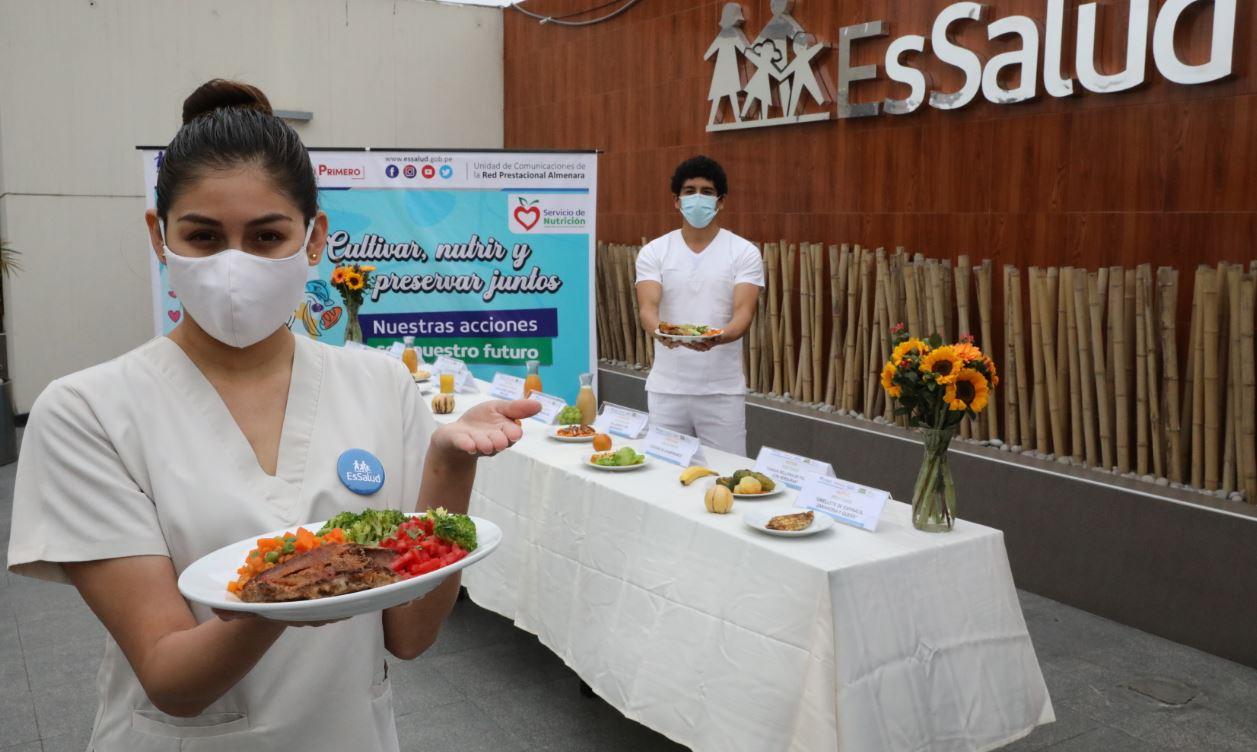 Essalud - EsSalud presenta dietas para pacientes con enfermedades crónicas en el día mundial de la alimentación