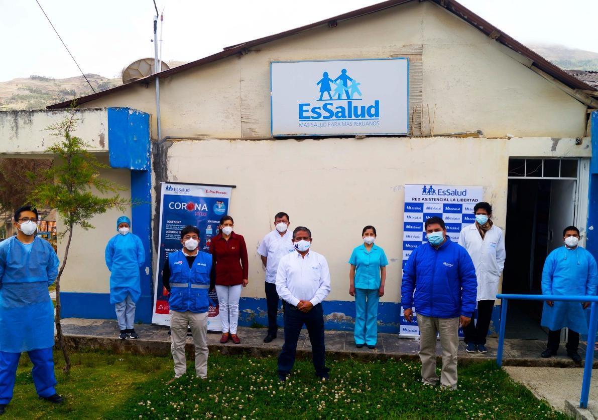 Essalud - EsSalud La Libertad: realizan visita de trabajo a CAP II Tayabamba