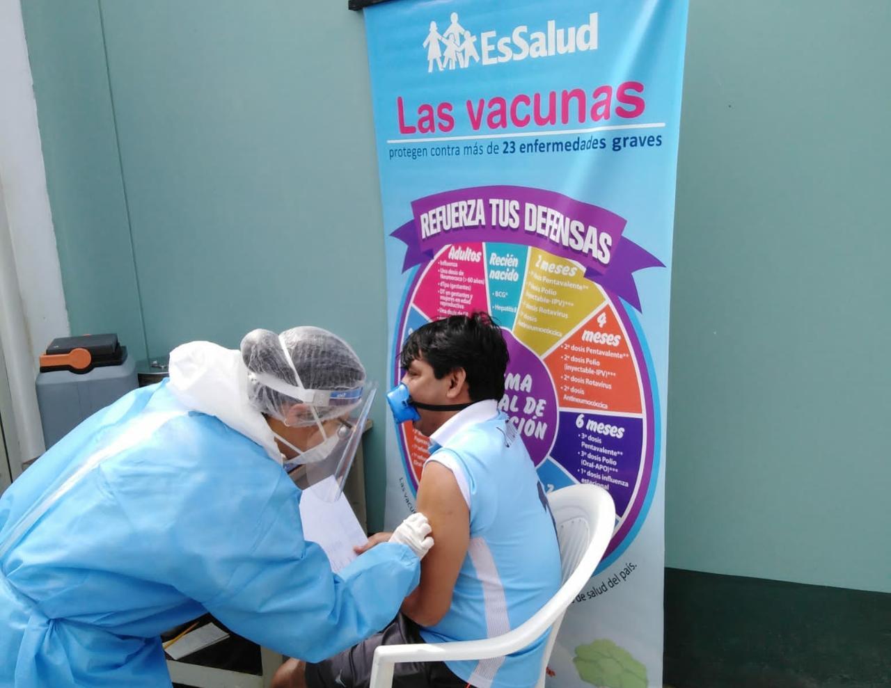 Essalud - EsSalud La Libertad administró 6 mil vacunas contra la difteria, durante el fin de semana