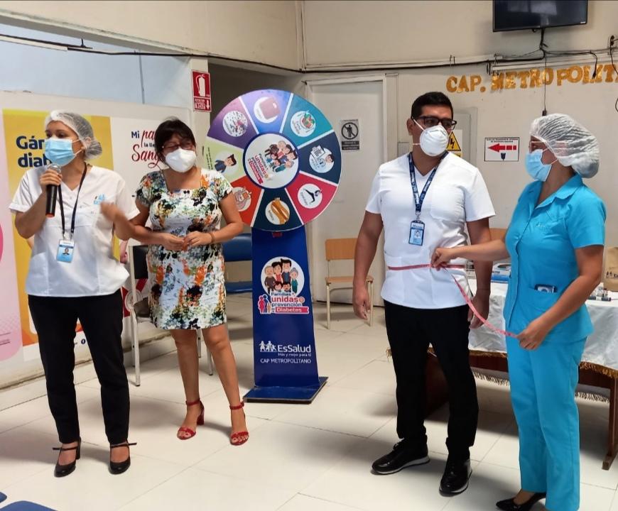 Essalud - EsSalud Tarapoto realizó charla informativa por el Día Mundial de la Diabetes