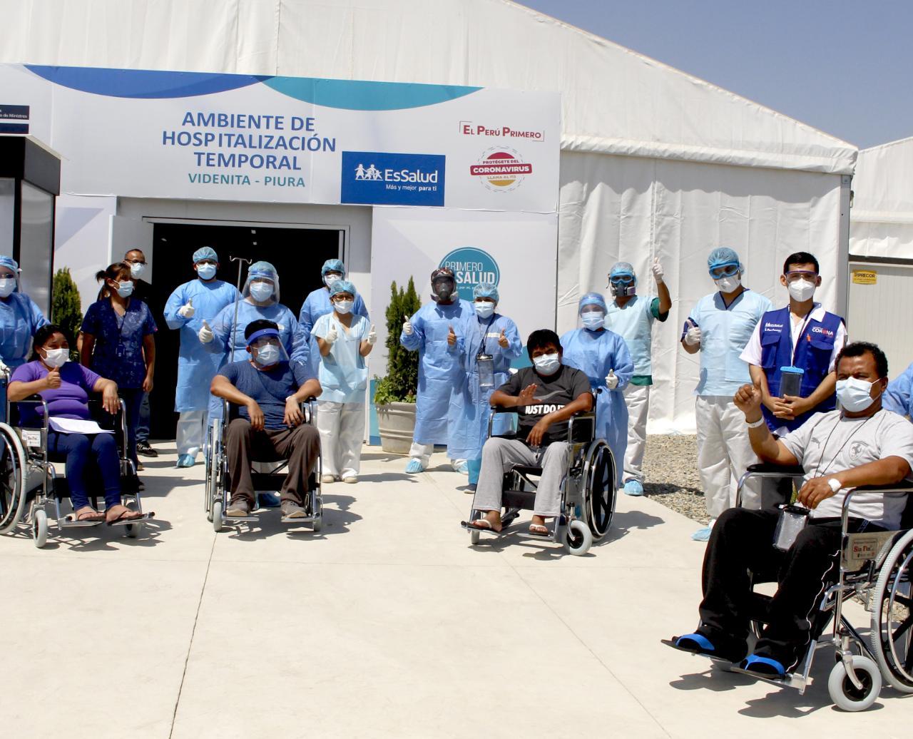 Essalud - EsSalud Piura: 23 pacientes vencieron la etapa crítica de Covid-19 en UCI de Villa La Videnita