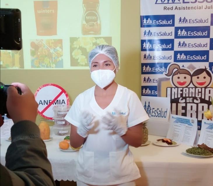 EsSalud Juliaca realiza sesiones virtuales sobre alimentación saludable para prevenir anemia