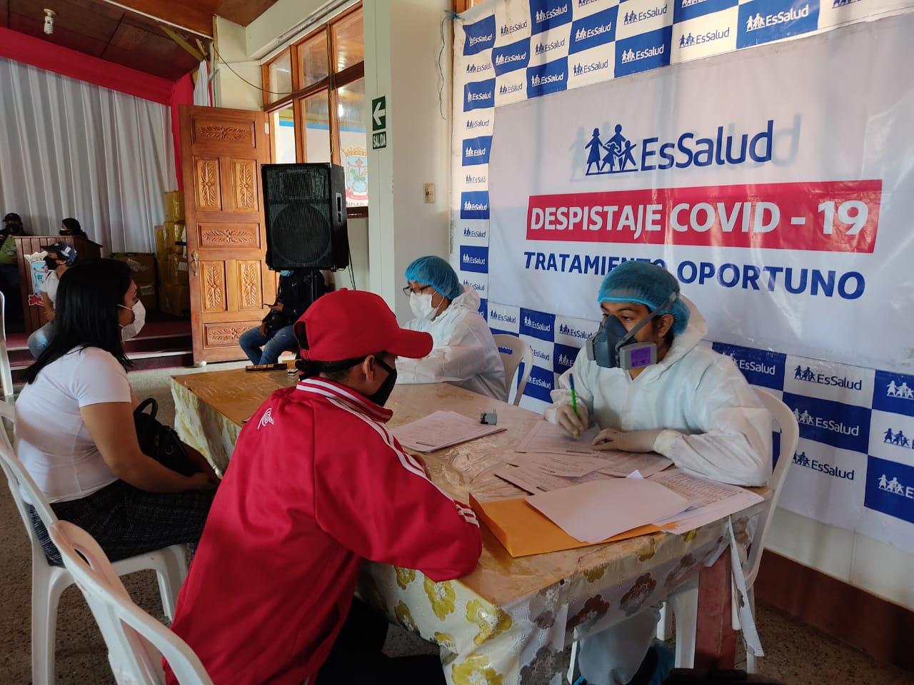 Essalud - EsSalud Moyobamba desarrollará durante todo el año jornadas de despistaje de Covid-19