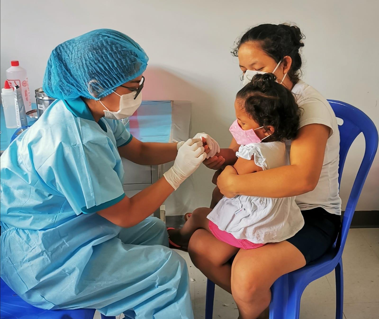 Essalud - EsSalud Moyobamba efectúa descarte de anemia a niños menores de 3 años