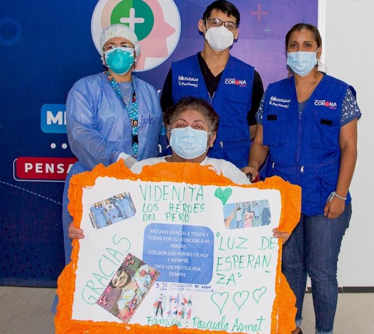Essalud - EsSalud Piura:  mujer con deterioro en riñón, fibrosis pulmonar, hipertensión y otras afecciones vence a la Covid-19
