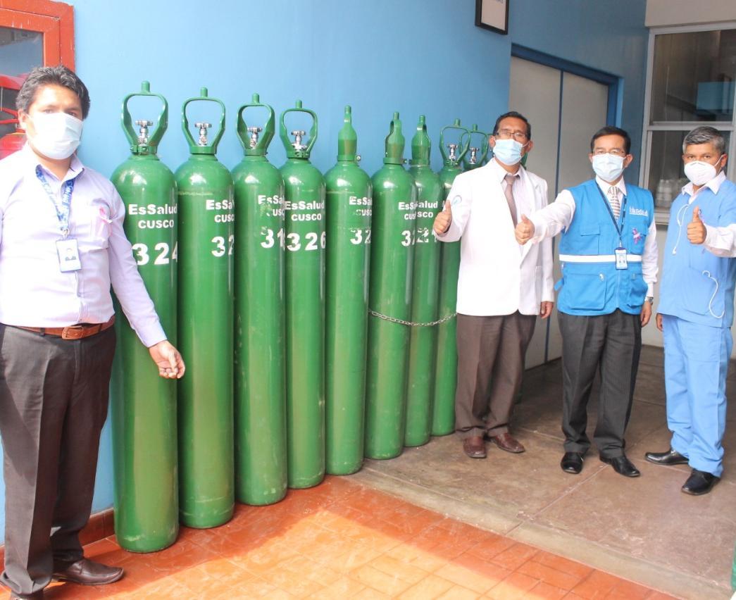 EsSalud Cusco dispone de más de mil balones de oxígeno medicinal