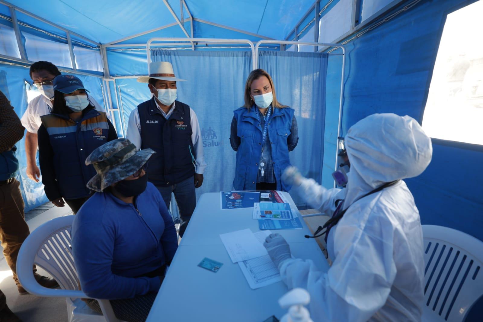 Essalud - Presidenta de EsSalud Fiorella Molinelli llega a Arequipa para reforzar atención primaria y continuar acciones preventivas masivas contra el Covid 19.