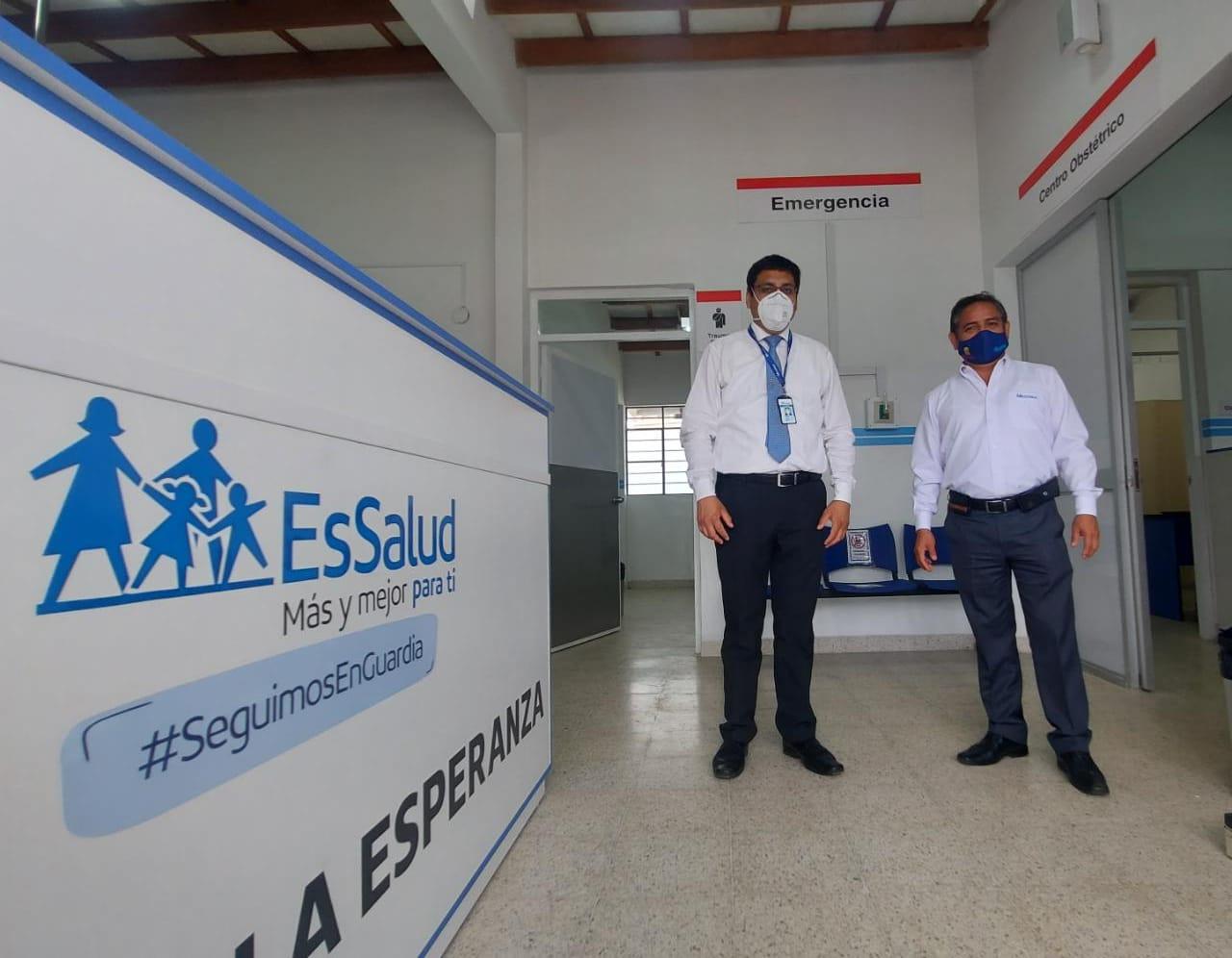 Essalud - EsSalud La Libertad inaugura remodelado Servicio de Emergencia de Hospital I La Esperanza